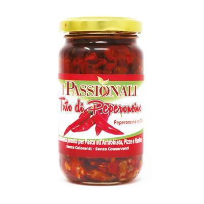 Trito di peperoncino Calabrese in olio di semi di girasole Prodoti Tipici Calabresi Bottega Lombardo Srl