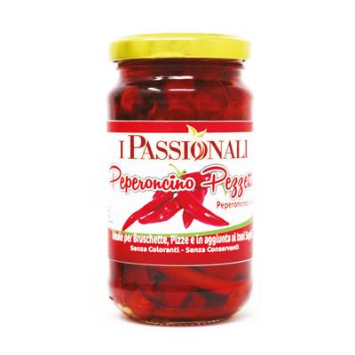 Peperoncino di Calabria piccante a pezzetti sott'olio Prodoti Tipici Calabresi Bottega Lombardo Srl