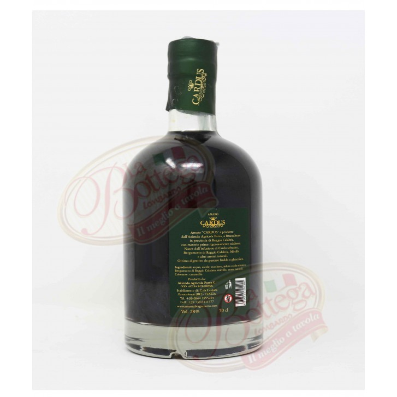 Liquore Amaro Cardus Digestivo Az. Patea 50cl Vol 28% Prodoti Tipici Calabresi Bottega Lombardo Srl