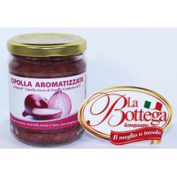 """Cipolla aromatizzata sott'olio a base di """"Cipolla Rossa di Tropea Calabria IGP"""" Prodoti Tipici Calabresi Bottega Lombardo Srl"""