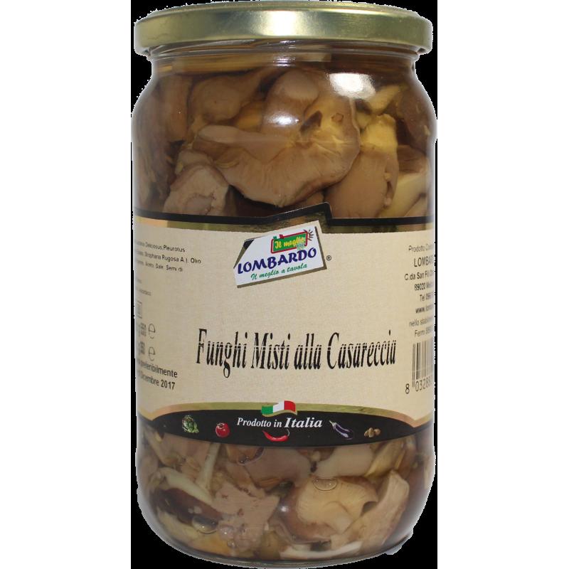 Funghi misti casarecci - prodotti tipici calabresi - bottega lombardo srl