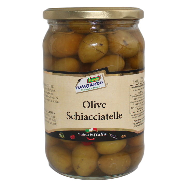 Olive verdi schiacciatelle (vaso)