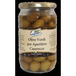 Olive verdi per aperitivo caserecce (vaso)