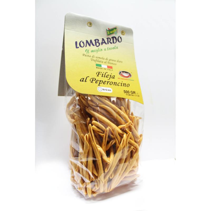 Pasta secca Fileja al Peperoncino 500 g Prodoti Tipici Calabresi Bottega Lombardo Srl