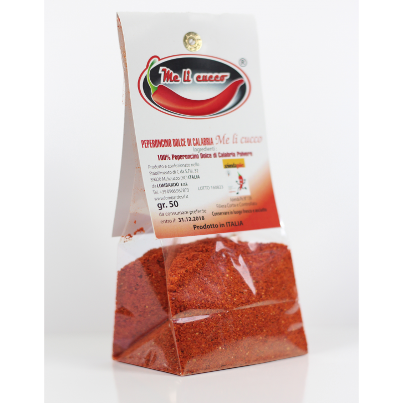 Peperoncino di Calabria in polvere (sacchetto) - prodotti tipici calabresi - bottega lombardo srl
