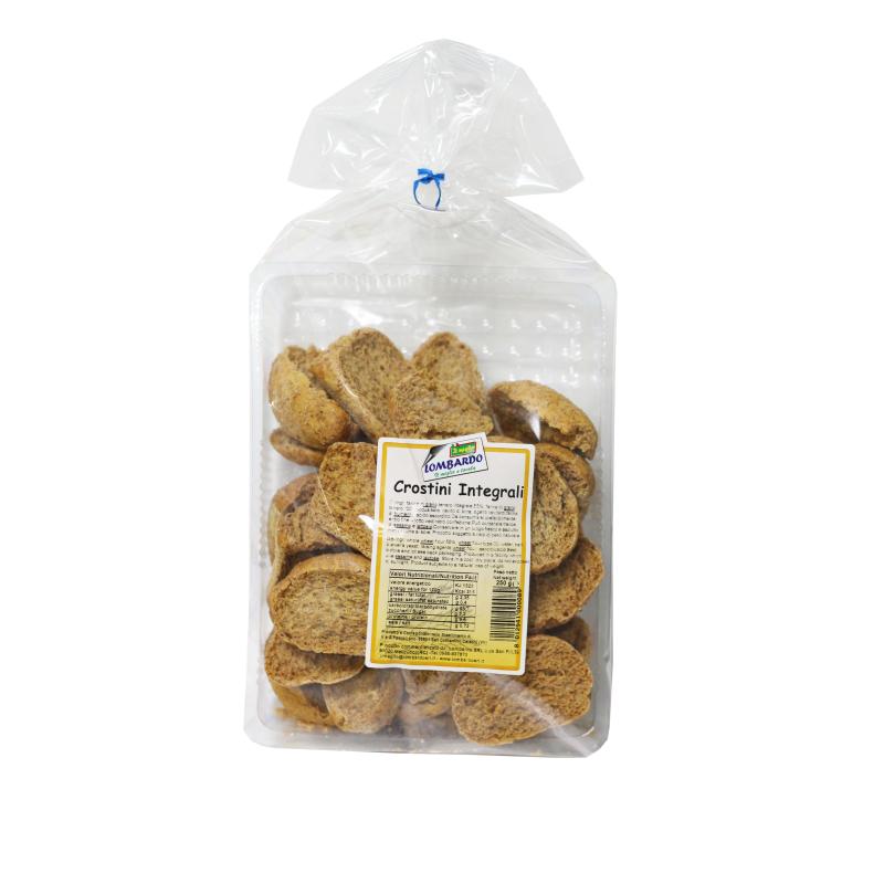 Crostini integrali 250 g - prodotti tipici calabresi - bottega lombardo srl