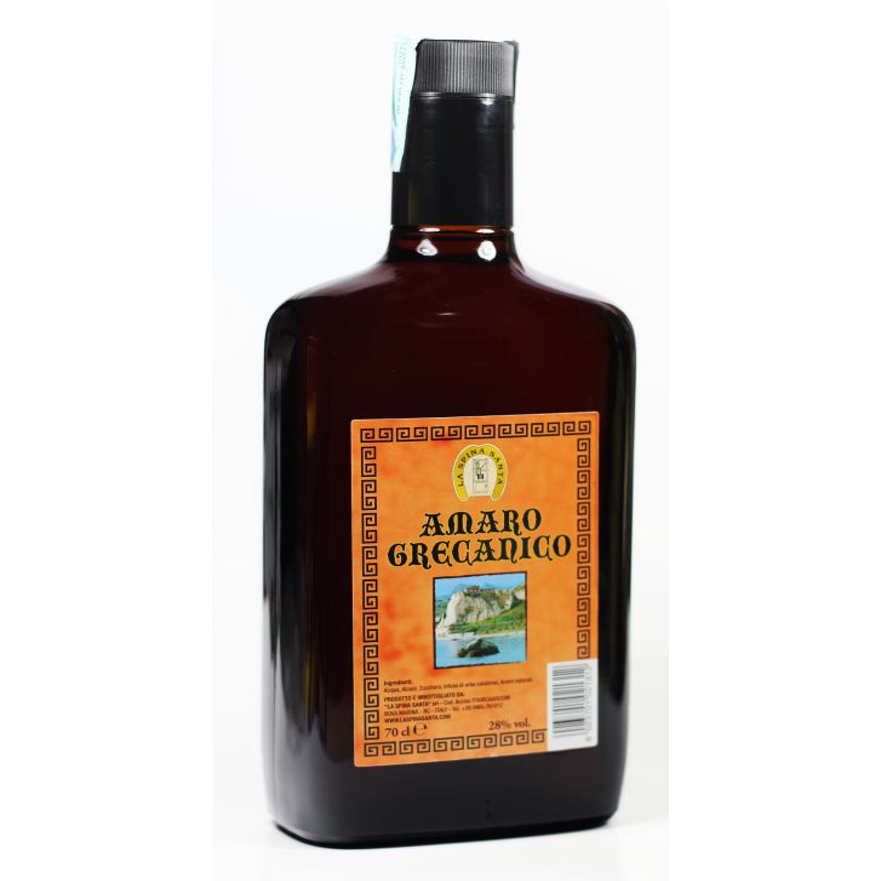 Amaro Grecanico 70 cl La Spina Santa Prodoti Tipici Calabresi Bottega Lombardo Srl