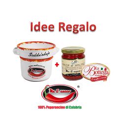 Kit Scalda Nduja più Vasetto Nduja 180 g Idea Regalo Prodoti Tipici Calabresi Bottega Lombardo Srl