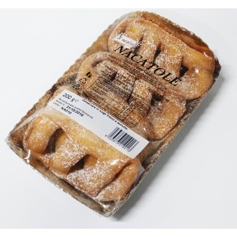 Nacatole dolce tipico calabrese confezione da 200 g - prodotti tipici calabresi - bottega lombardo srl
