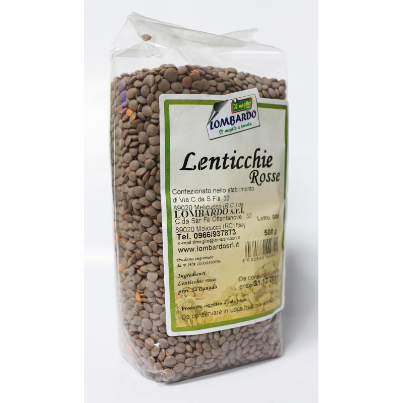 Lenticchie rosse Prodoti Tipici Calabresi Bottega Lombardo Srl