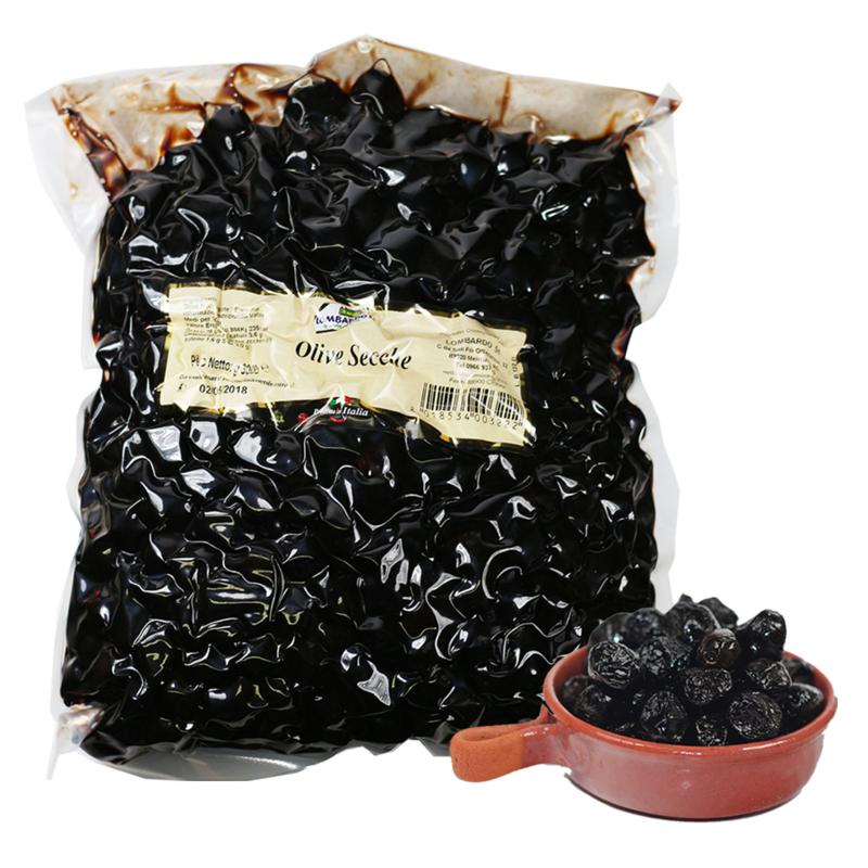 Olive nere secche large - prodotti tipici calabresi - bottega lombardo srl