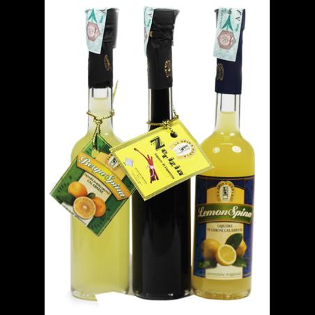 Tris pocket di liquori Calabresi La Spina Santa