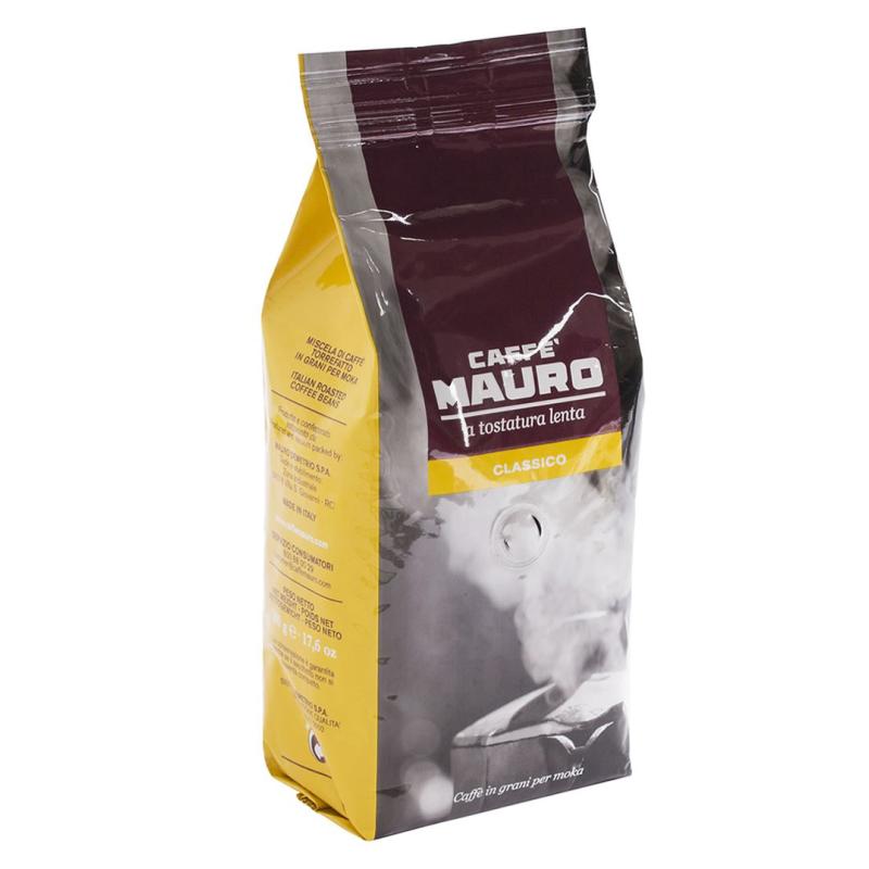 Caffè mauro classico a tostatura lenta in grani 500 g Prodoti Tipici Calabresi Bottega Lombardo Srl