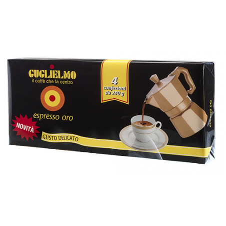 Caffè guglielmo espresso oro 250 g x 4