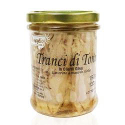 Tranci di Tonno in olio d'oliva in vetro gr. 190