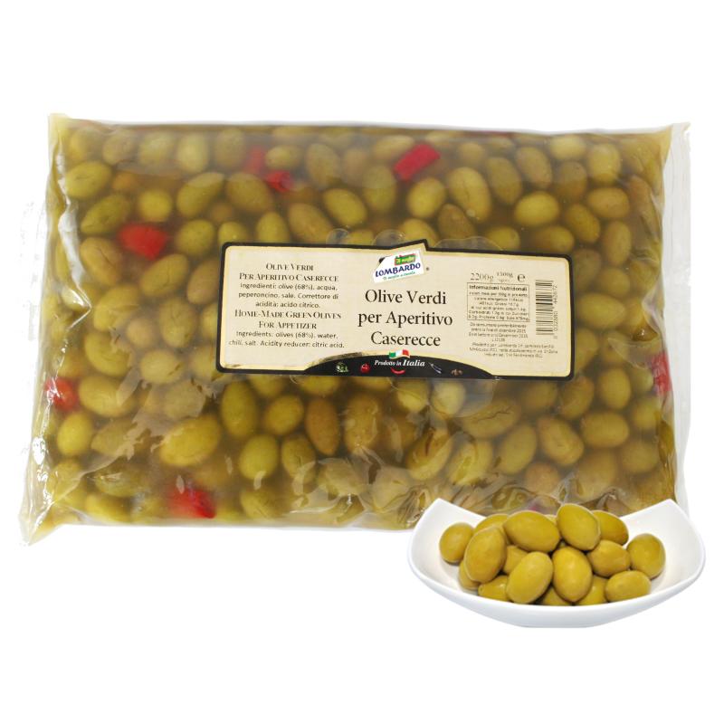 Olive verdi per aperitivo busta 1500 g - prodotti tipici calabresi - bottega lombardo srl