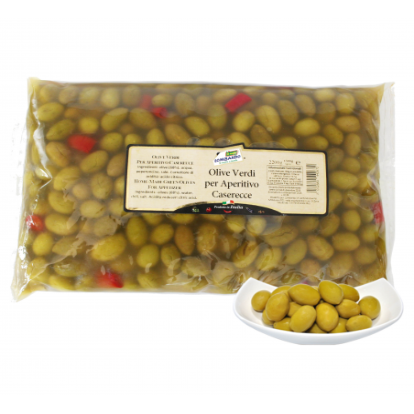 Olive verdi per aperitivo busta 1500 g