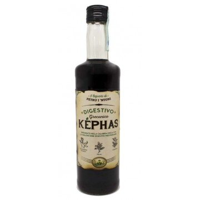 "KEPHAS Digestivo Grecanico Liquore di ""Petru i 'Ntoni"" 50 cl 28% vol. Prodoti Tipici Calabresi Bottega Lombardo Srl"