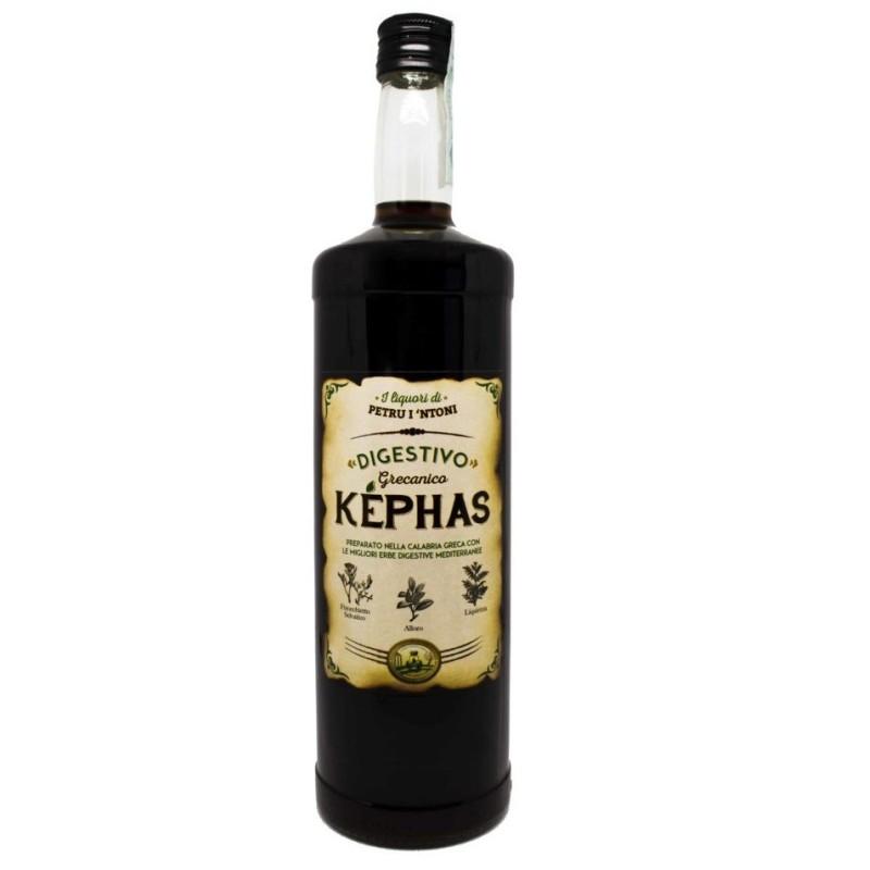"KEPHAS Digestivo Grecanico Liquore di ""Petru i 'Ntoni"" 100 cl 28% vol. Prodoti Tipici Calabresi Bottega Lombardo Srl"