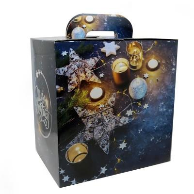 Scatola di Natale quadrata formato 33X24X34 cm MEDIA (vuota) Prodoti Tipici Calabresi Bottega Lombardo Srl