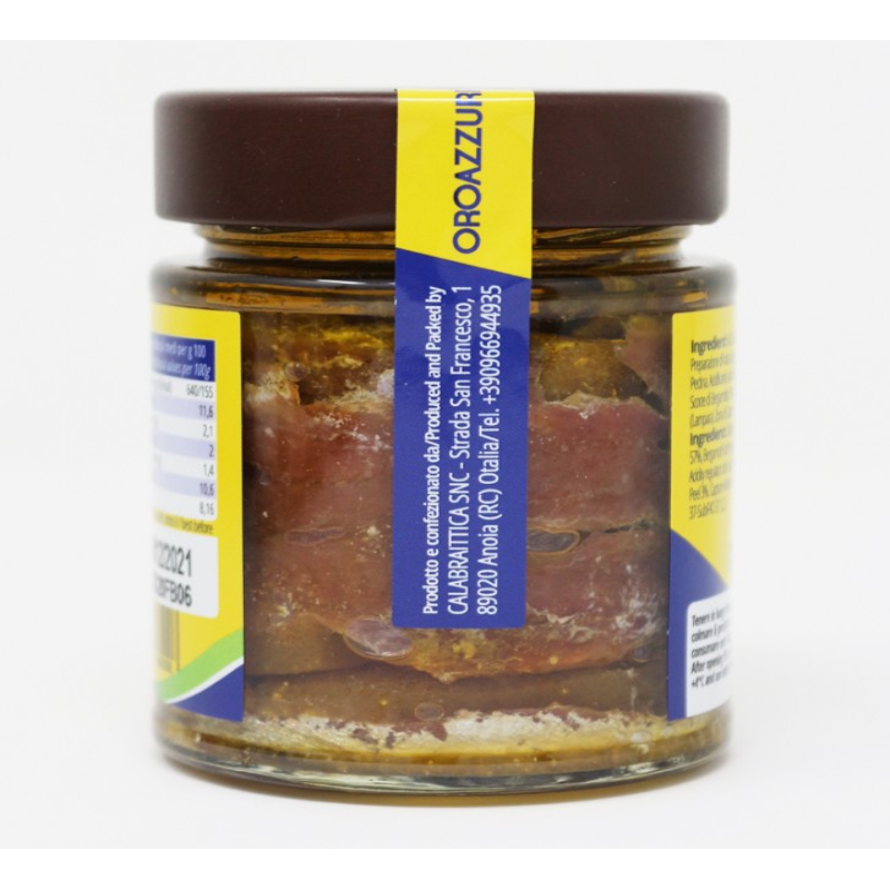 Filetti di Alici e Bergamotto di Calabria vaso 140 g Prodoti Tipici Calabresi Bottega Lombardo Srl