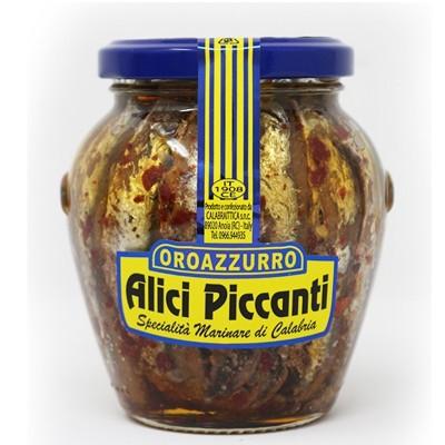 Alici in Vaso da 300 g Piccanti Prodoti Tipici Calabresi Bottega Lombardo Srl