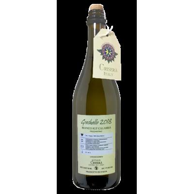 Vino Grechello Bianco Frizzante IGT Crisera' Bottiglia da 75 cl Prodoti Tipici Calabresi Bottega Lombardo Srl