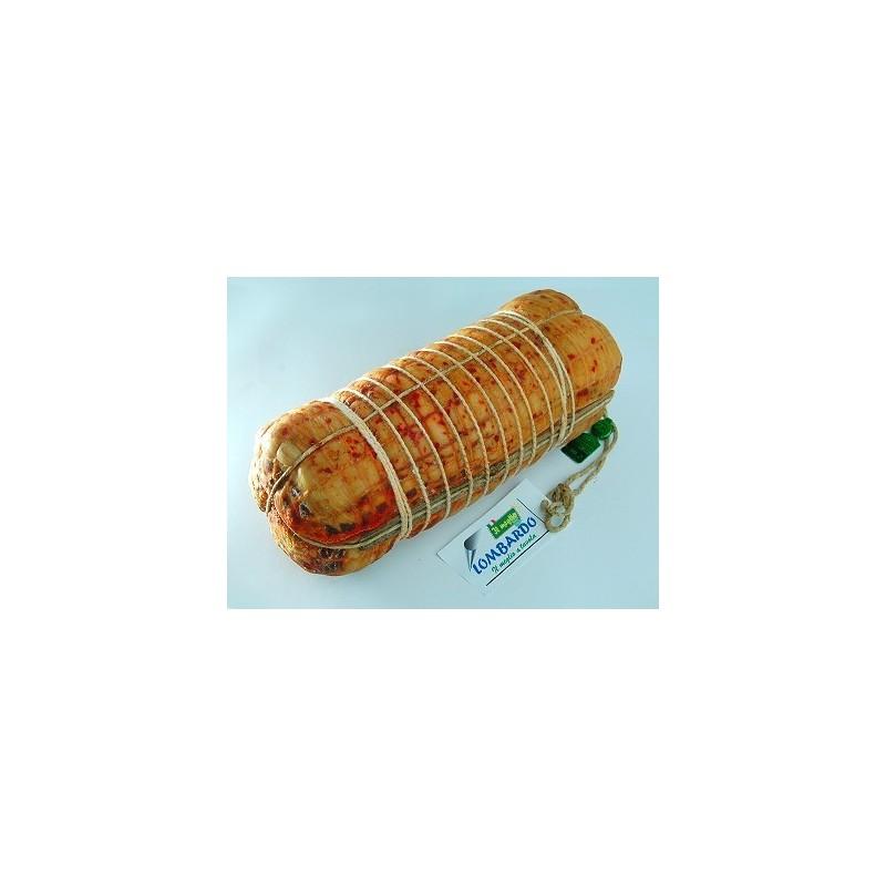 Pancetta arrotolata piccante - prodotti tipici calabresi - bottega lombardo srl